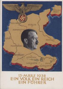 Anschluss 13 März 1938 Postcard
