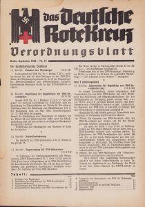 DRK Verordnungsblatt Sept. 1938