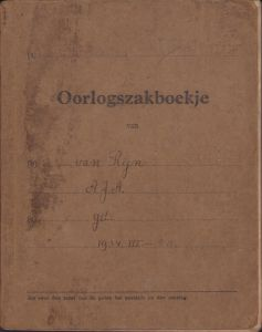 Dutch 18.Rgt.Inf. Soldier's Pay Book