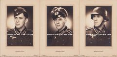 Soldier's Portrait Trio wearing different Headgear (Brussel)