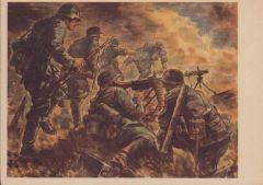'Infanterie Greift An!' Sketch Postcard