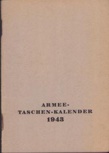 Mint Armee Taschen Kalender 1943