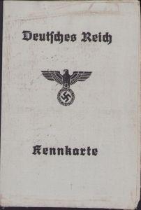 Deutsches Reich Kennkarte (1944)