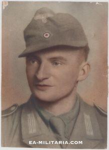 Large Colorized DAK Soldiers Portrait
