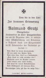 Kradmelder Panzerdivision Death Notice (1941)