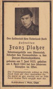 Panzer (StuG) Death Notice (1944)