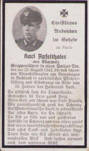 Polizei-Div. Death Notice (1942)