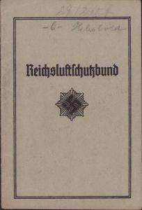 Reichsluftschutzbund Mitgliedsausweis (Ortsgruppe Kassel)