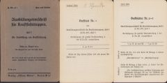 'Ausbildungsvorschrift für Kraftfahrtruppen' 1933/34