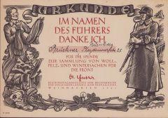 WHW 'Woll,Pelz und Wintersachen' Certificate