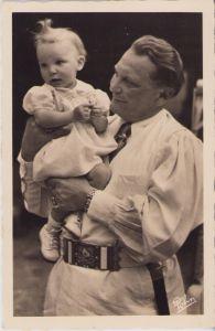 Hermann Göring mit Edda Propaganda Postcard