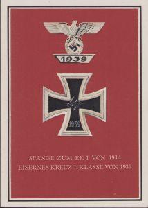 Spange zum EK1 von 1914 EK1 von 1939 Postcard