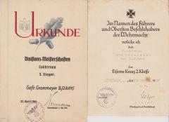 Inf.Rgt.695 Award Document Set