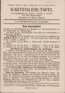 'Kartenlese-Tafel' Instruction Card