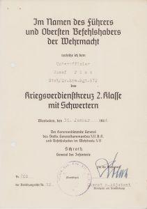 Stab/Gr.Ers.Rgt.572 KvKII Award Document