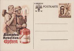 Winterhilfswerk 'Kämpfen,Arbeiten,Opfern' Postcard