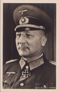Ritterkreuzträger Postcard Generalleutnant Grasser