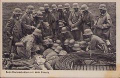 Postcard 'Kartenstadium vor dem Einsatz' (19.Pz.Div)