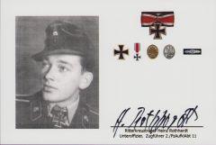 Signed Photo Ritterkreuzträger H.Rothhardt (2./PzAufklAbt 11)