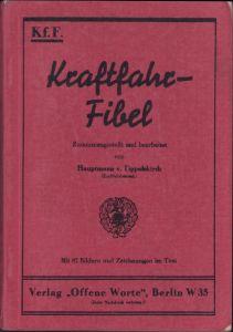 Wehrmacht 'Kraftfahr' Fibel
