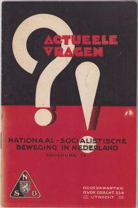 NSB 'Actueele Vragen' Booklet 1934