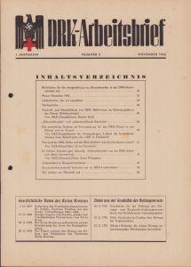 DRK-Arbeitsbrief (November 1942)