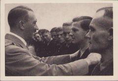 'Der Führer bei seinen Arbeitern' Postcard 1941 dated