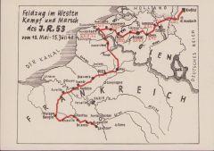 Feldzug im Westen Inf.Rgt.53 postcard
