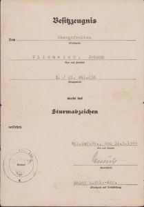 1./Pio.Btl.256 ASA Award Document