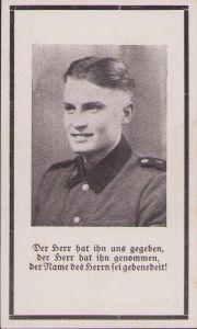 SS-Gebirgs-Rgt. Death Notice 1944