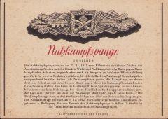 Rare 'Nahkampfspange in Silber' Postcard