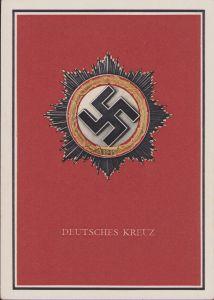 Mint Deutsches Kreuz in Gold Postcard
