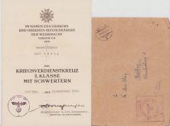 Sich.Div.281 KvKII Award Document