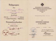 3./Pz.Jg.Abt.162 VWA/EKII Award Docs