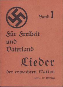 'für Freiheit und Vaterland' Liederbuch