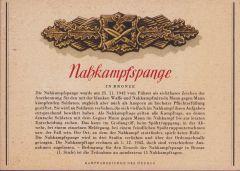 Rare 'Nahkampfspange in Bronze' Postcard