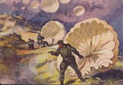 'FJ landen auf Kreta' Color Postcard