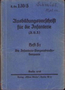Unit Marked/Named Panzerabwehr Instruction Booklet