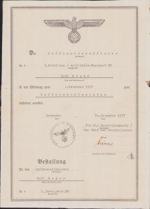 I.Abt/Art.Rgt.55 Promotion Document