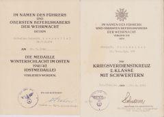 Gren.Rgt.374 Ost/KVKII Award Docs
