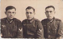 3 Soldiers Portrait Postcard