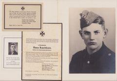 SS-Sturmmann Death Notice Grouping (Paris 1944)