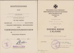 9./Gren.Rgt.501 VWA/EKII Award Docs