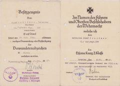 13./Inf.Rgt.229 VWA/EKII Award Docs