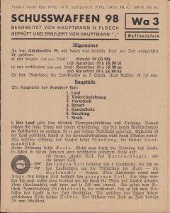 Period 'Schusswaffen (k)98' Instruction Flyer