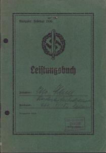 SA Leistungsbuch RAD 1936