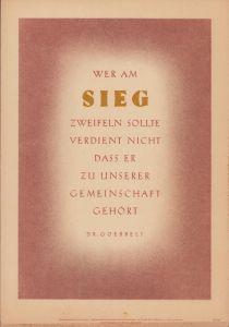 Wochenspruch der NSDAP (week 34, 1943)