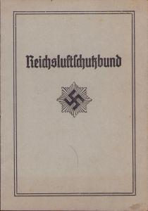Reichsluftschutzbund Mitgliedsauweis (Ortsgruppe Konstanz)