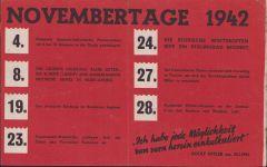 Flugblätter 'Novembertage 1942'