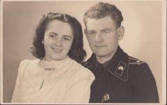 Panzer Soldier Wedding Portrait (Stassfurt)